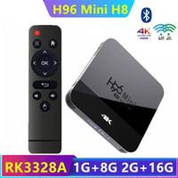 H96 Mini H8 Box Android Box O.S. 9.0 RK3228A 2GB + 16GB المزدوج 2G + 5G WIFI BT4.0 PK X96