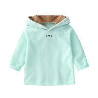 Newborn Baby Hoodies Candy Color Baby Girls Sweatshirts Hood...