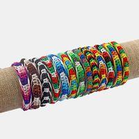 10 sztuk Rasta Przyjaźń Bransoletka Nadgarstek Cotton Cord Silk Reggae Jamajka Surfer Boho Rainbow Color Bransoletka