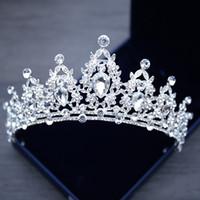 Сверкающие блестящие бриллиантовые короны для хрусталя Кристалл со стразами Новый дизайн Головные уборы невесты Сладкие диадемы с 15 головками Аксессуары 15 Анош-маскарад