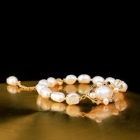 2020 New wholesale Real Baroque Freshwater Pearl Bracelets f...