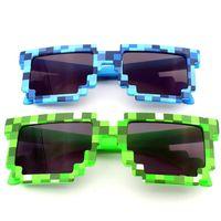 3 цвета мозаики Модные солнцезащитные очки Детские Игры Очки Игрушки Для мальчиков и девочек из солнечных очков Детский подарок на день рождения 20шт