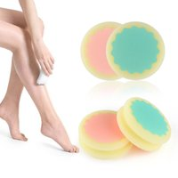 100pcs tampons épilation indolore lisse peau jambe bras visage épilation Remover exfoliant épilation éponge peau soins de beauté outils