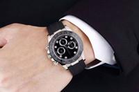 Reloj de alta calidad más vendido 116519ln Sin cosmógrafo Correa de goma Chronograph 2813 Movimiento Negro Dial Reloj automático MES MEJOR REGALO