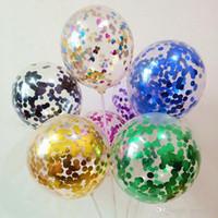 10pcs / серия Ясный шары Gold Star Фольга конфетти Прозрачные шары С Днем Рождения Baby Shower Свадеб украшения