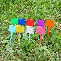 Impianto Tag Marker Mini plastica etichette di classificazione Inserimento della scheda Tag Giardino Semplicità colorate piante impermeabile nuovo arrivo 0 25fy D2