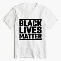 Men's T-Shirts BLM T Shirt Black Lives Matter Tshirts I Can't Breathe George Floyd Letter Print Tops Tees Women Men Unisex