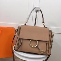 Newset Lady Suede Cadeia Handbag do anel círculo Bolsas de Ombro Mulheres Flap Cadeia Crossbody Bag Lady Bolsas Mensageiro Bolsa
