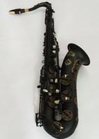 Yeni Yüksek kalite Japon Suzuki Tenor Saksafon Bb Müzik enstrüman Siyah Nikel Altın Saxprofessional Profesyonel Ücretsiz kargo