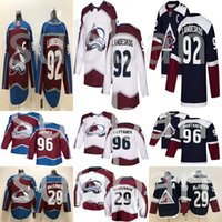 Colorado Avalanche 29 Nathan MacKinnon 96 Mikko Rantanen 92 Gabriel Landeskog 9 Matt Duchene hockey chandails