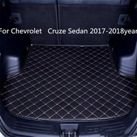 Für Chevrolet Cruze Auto-Anti-Skid s Sedan 2017-2018year Trunk Mat Wasserdichte Leder Teppich Auto-Kofferraum-Matte Flat Pad