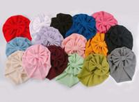 новая мода ленты для волос детской шапки кукурузы большой бабочки тюрбан дети шины крышка украшение волос оптовых многоцветные