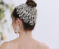 Мода Свадебные аксессуары для волос головной убор с Кристалл Люкс коронок и диадемы Head ювелирные Rhinestone Люкс Тиара оголовьем Noiva