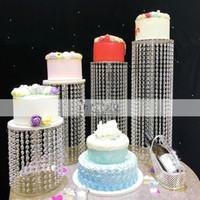 Новый сверкающий Кристалл гирлянда люстра свадебный торт стенд день рождения поставки украшения для столешницы центральные детали