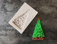 1pc Christmas Tree Silicone mold fondant mold cake decoratin...