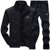 Tracksuits Erkekler Polyester Kazak Sporting Polar Spor Salonları Bahar Ceket + Pantolon Casual Erkek Eşofman Spor Fitness