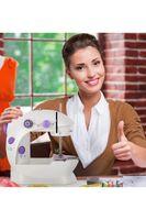 US Stock Mini Portable Handhållen Elektriska Symaskiner Stitch Sy Needlework Trådlösa Kläder Tyger Hand Sömnad DIY Maskstygn