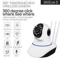 Wif HD 1080P 720P IP Camera Home Security DVR WiFi Sem Fio CCTV Câmera Visão de Camera IR Monitor de Bebê P2P com Antena 3pcs