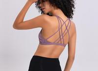 مثير عبر الأشرطة الصالة الرياضية الصدرية المرأة اللاسلكية اليوغا اللياقة البدنية أعلى مبطن رفع اليوغا الصدرية المحاصيل الأعلى أكتيفيوير XS-XL
