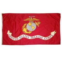 3x5 piede US Marine Corps bandiera Vivid colore e UV dissolvenza resistente tela intestazione e doppia cucitura Stati Uniti bandiere militari poliestere