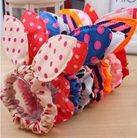 Rabbit ears Hairbands Dot Bow Headbands Cute Baby Girls Band...