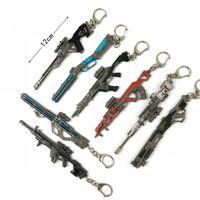 Spiel Apex Legends Hero Gun Modell Keychain Anhänger Schlüsselanhänger Auto Schlüsselanhänger Zubehör Geschenk für Männer Frauen
