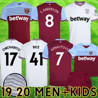 Kits de football 2019 2020 New West Ham united jersey kids 19 20 maillot de foot ARNAUTOVIC ANDERSON camiseta CHICHARITO maillot de pied RICE en tête