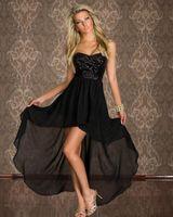 Hot Women's Sexy Club Wear Vestidos sin tirantes Lentejuelas Lentejuelas Cocktail Partido Fondo Irregular Vestido largo Vestido Clubwear Elegante Dama Vestidos de fiesta