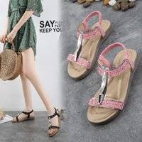 2019 Ladies fashion casual shoes Summer Sandals Slipper Beac...