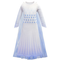 Kids Cosplay Princess Gown Girls Long Sleeve Gradient Color ...