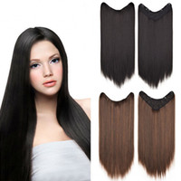 Sara Lady Women Long Straight Clip in Hair Extensions V Styl...