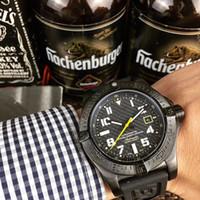reloj para hombre para hombre automáticos mecánicos todo negro con silicona de línea de correa watches5 ATM impermeable puntero luminoso Montre de luxe