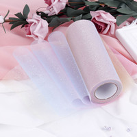 15 cm * 10 metros diy grenadine vestido de cintilação de fios para festa de casamento em casa acessórios de decoração de palco iridescência gaze