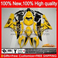 Lichaam OEM voor Yamaha Stock Geel Nieuwe YZF R 6 600CC YZF 600 YZF-600 06-07 Frame 61HC.3 YZF-R6 YZF600 YZF R6 YZFR6 06 07 2006 2007 Fairing Kit
