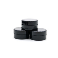 5ml cosmétique échantillon pot vide ronde en plastique Pot Noir Vis couvercle Cap, Petite bouteille minuscule 5Gram, pour le maquillage, fard à paupières, ongles, poudre, peinture