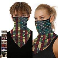 American Flag Printed Sonnenschutz Schutzmaske Männer und Frauen Hängen Earmuffs Dreieck Schal Schal Maske EEA1444