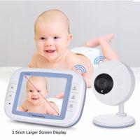 Baby Video Monitor Monitor Camara Bebe Moniteurs de 3,5 pouces LCD IR Night Vision Capteur de température Capteur de température Lullabies 2 Way Cam Regardant