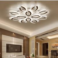 Поверхностные светодиодные потолочные люстры освещение гостиной спальня люстры современные светодиодные домашние осветительные светильники AC110V / 220V