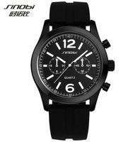 Sinobi Sports Women's Wrist Klockor Casula Geneva Quartz Watch Soft Silicone Strap Fashion Color Billiga Prisvärd Reloj Mujer
