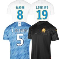 19 20 Ligue 1 jersey Olympique De Marseille soccer jerseys 2...