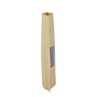 100Pcs / Lot 12x20cm Stand Up richiudibile sacchetto di imballaggio di carta curvo d'angolo marrone kraft sacchetto di carta a chiusura lampo