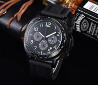 2021 Hohe Qualität Luxusuhren Herrenuhren Sechs Stiche Alle Wählscheiben Arbeiten Quarz Armbanduhr Paner Brand New Männlich Relogio Masculin