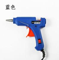 ارتفاع درجة الحرارة سخان تذوب الساخنة الغراء بندقية 20W إصلاح أداة الحرارة بندقية الأزرق البسيطة بندقية مع الزناد الولايات المتحدة / الاتحاد الأوروبي التوصيل