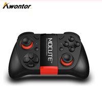 mocute 050 VR 게임 패드 안드로이드 조이스틱 블루투스 컨트롤러 셀프 리모콘 셔터 게임 패드 PC 스마트 폰 + 홀더