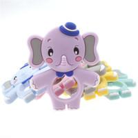 Silikonowe Elephant Gryzaki Ząbkowanie Zabawki Klasy Żywności Silikon Wisiorek Chew Koraliki Elephant Wisiorek Sensory Zabawny Zabawki Baby Prezent
