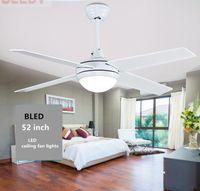 Оптом белые потолочные вентиляторы европейские простые вентиляторные огни света дистанционного управления