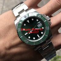 DP Factory Лучшие часы Качество 116610 116610LV Автоматический зеленый циферблат керамический ободок Мужские часы из нержавеющей стали 316L Лучшие часы 40мм