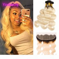 Brazilian Virgin Hair Extensions 3 Bundles With 13X4 Lace Fr...