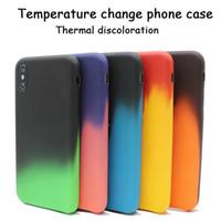 Für iphone 11 pro max Telefonkasten Farbwechsel Telefonkasten Farbwechsel PU Wärmetemperaturempfindlichen Schutzfall