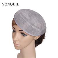 Partito delle donne di Charme imitazione sinamay COLORE GRIGIO Fascinator Base 18CM fortino cappello di nuovo materiale hairwear mostrare copricapo capelli fai da te